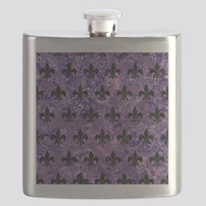 ROYAL1 BLACK MARBLE & PURPLE MARBLE Flask