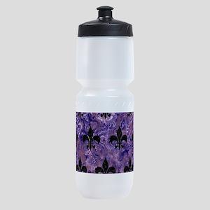 ROYAL1 BLACK MARBLE & PURPLE MARBLE Sports Bottle