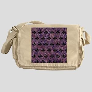 ROYAL1 BLACK MARBLE & PURPLE MARBLE Messenger Bag