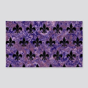 ROYAL1 BLACK MARBLE & PURPLE MARBLE Area Rug