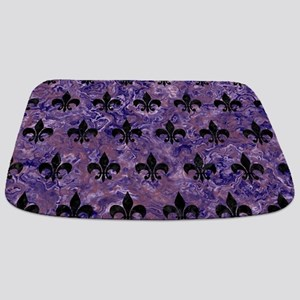 ROYAL1 BLACK MARBLE & PURPLE MARBLE Bathmat