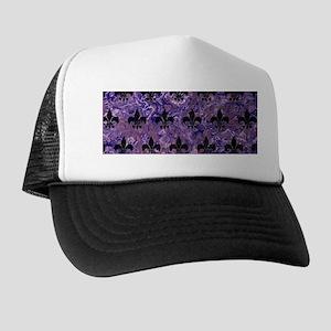 ROYAL1 BLACK MARBLE & PURPLE MARBLE Trucker Hat