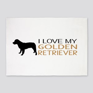 Dogs: I Love My Golden Retriever 5'x7'Area Rug