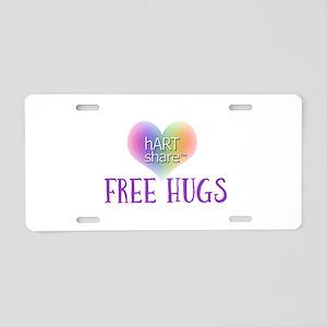 hARTshare Free Hugs Aluminum License Plate