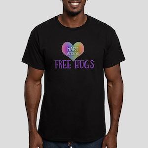 hARTshare Free Hugs Men's Fitted T-Shirt (dark)