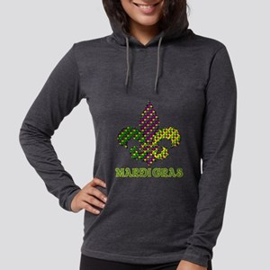 Mardi Gras Womens Hooded Shirt