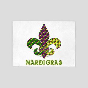 Mardi Gras 5'x7'Area Rug