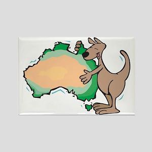 Aussie Kangaroo Rectangle Magnet