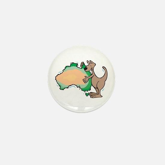 Aussie Kangaroo Mini Button