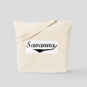 Savanna Vintage (Black) Tote Bag