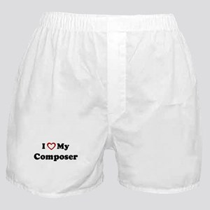 I Love My Composer Boxer Shorts