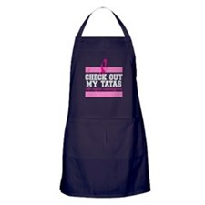 Check Out My Tatas (cancer) Apron (dark)