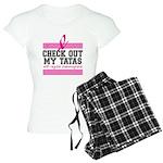 Check Out My Tatas (Cancer) Women's Light Pajamas