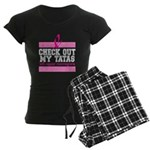 Check Out My Tatas (Cancer) Women's Dark Pajamas