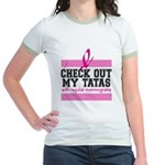 Check Out My Tatas (Cancer) Jr. Ringer T-Shirt