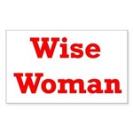 Wise Woman Rectangle Sticker
