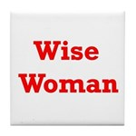 Wise Woman Tile Coaster
