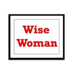 Wise Woman Framed Panel Print