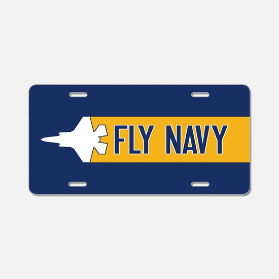 U.S. Navy: Fly Navy (F-35) Aluminum License Plate