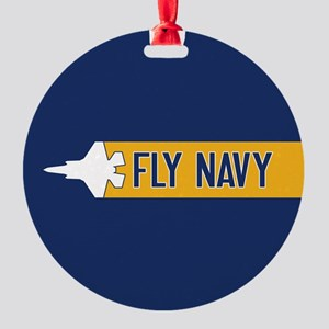 U.S. Navy: Fly Navy (F-35) Round Ornament