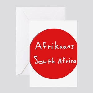 Afrikaans greeting cards cafepress afrikaans language and south africa greeting cards m4hsunfo