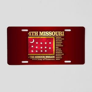 4th Missouri Infantry Aluminum License Plate