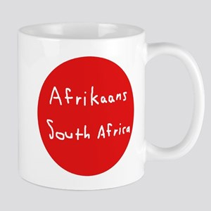 Afrikaans Language And South Africa Flag Desi Mugs