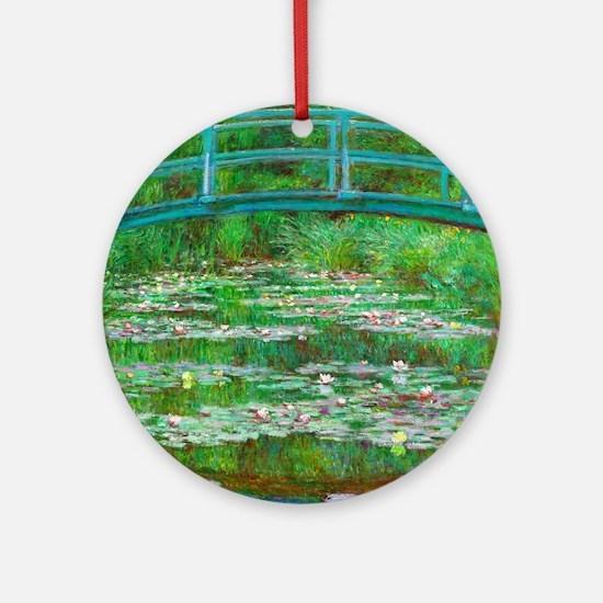 The Japanese Footbridge by Claude Monet Round Orna
