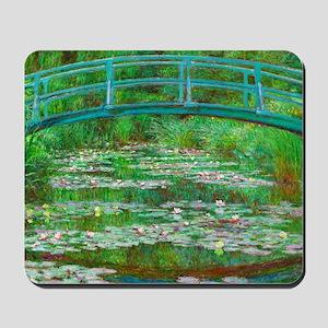 The Japanese Footbridge by Claude Monet Mousepad