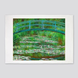 The Japanese Footbridge by Claude Monet 5'x7'Area