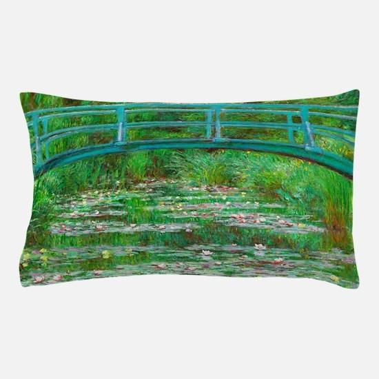 The Japanese Footbridge by Claude Monet Pillow Cas