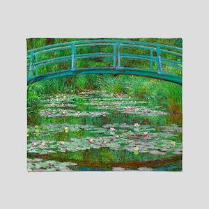 The Japanese Footbridge by Claude Monet Throw Blan