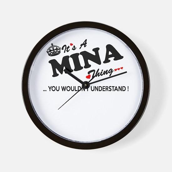 Cute Mina Wall Clock
