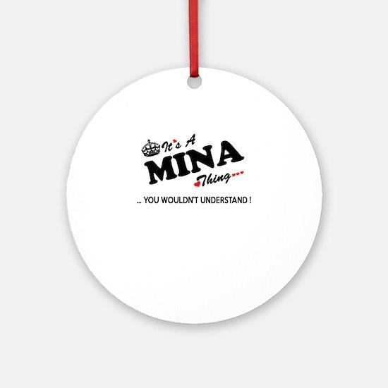 Unique Mina Round Ornament
