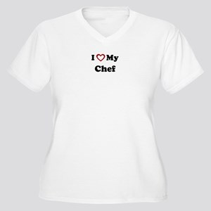 I Love My Chef Women's Plus Size V-Neck T-Shirt