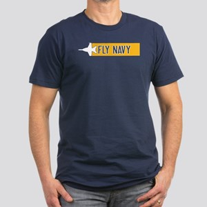 U.S. Navy: Fly Navy (F Men's Fitted T-Shirt (dark)