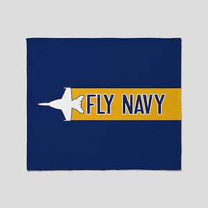 U.S. Navy: Fly Navy (F-18) Throw Blanket