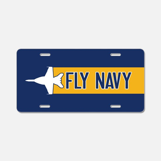 U.S. Navy: Fly Navy (F-18) Aluminum License Plate