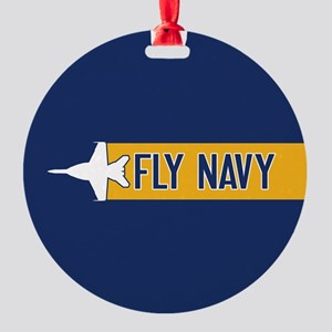 us navy fly navy f 18 round ornament
