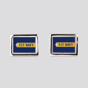 U.S. Navy: Fly Navy (E-2) Rectangular Cufflinks