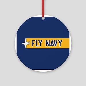 U.S. Navy: Fly Navy (E-2) Round Ornament