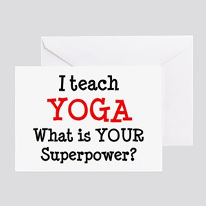 teach yoga Greeting Card