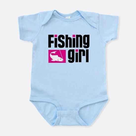 Fishing Girl Infant Bodysuit