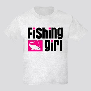 Fishing Girl Kids Light T-Shirt