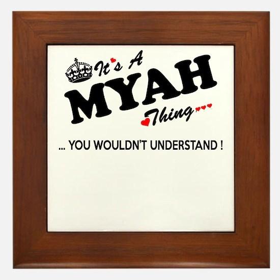 Cute Myah Framed Tile