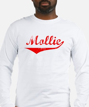 Mollie Vintage (Red) Long Sleeve T-Shirt