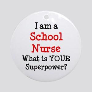 school nurse Round Ornament