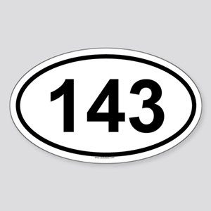 143 Oval Sticker