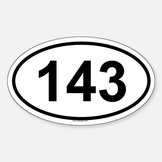 143 Oval Decal