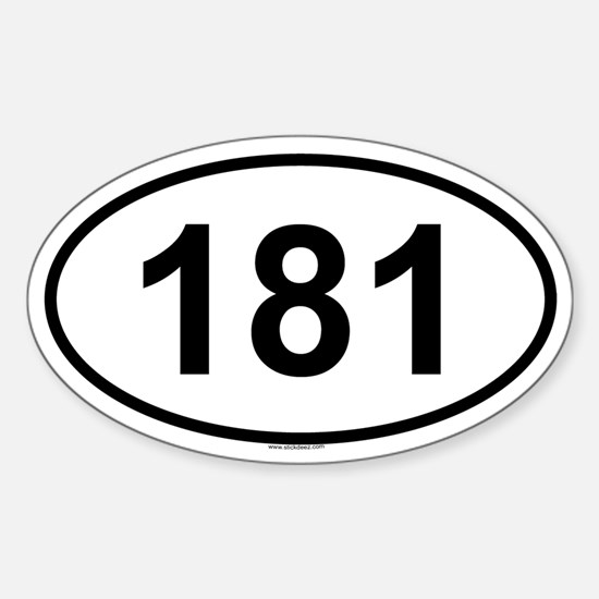 181 Oval Decal